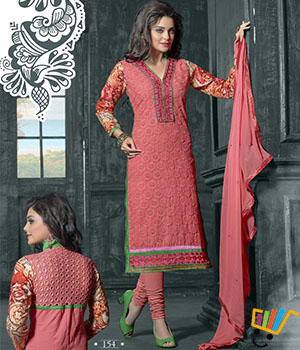 Admire18 Embroidered Heavy Designer Partywear Straight Suit 154