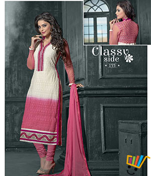 Admire18 Embroidered Heavy Designer Partywear Straight Suit 155