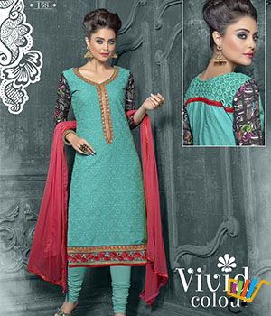 Admire18 Embroidered Heavy Designer Partywear Straight Suit 158