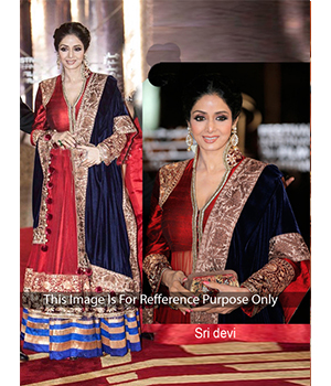 Sri Devi Red Color Bollywood Dress JOM28B1018
