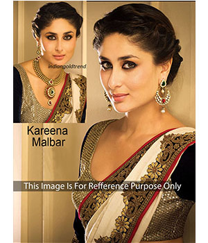 Kareena Kapoor Cream Bollywood Saree JOM28B341