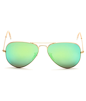 Superdeals Golden Frame And Aqua Green Glass Aviator Sunglasses For Men And Women SD280