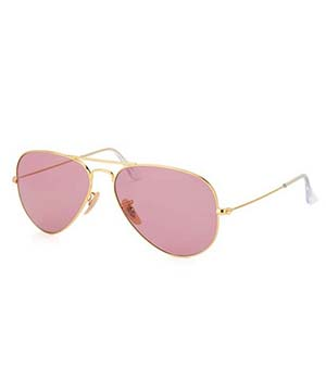 Superdeals Golden Frame And Regular Pink Glass Aviator Sunglasses For Men And Women SD286