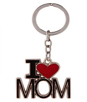 Superdeals I Love Mom Key Chain Black SD312