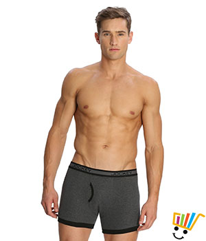Jockey Elance Mens Trunk 1017 Charcoal Melange