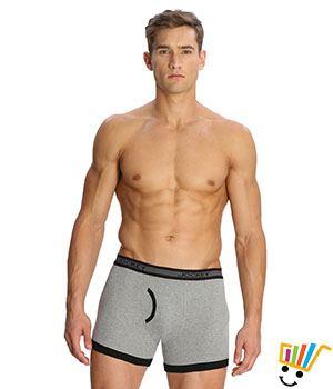 Jockey Elance Mens Trunk 1017 Grey Melange