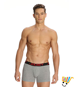 Jockey Zone Stretch Mens Trunk US20 Grey