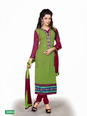 Look N Buy Multicolor Printed Unstitched Dress Material 170-3004