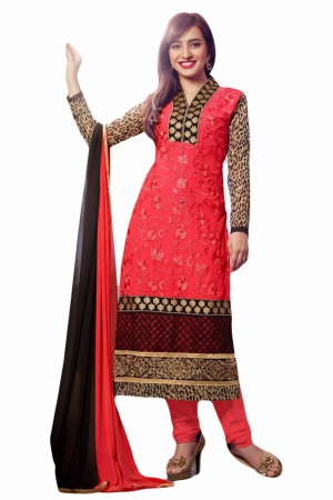 Look N Buy Multicolor Embroidery Work Unstitched Dress Material 172-1374