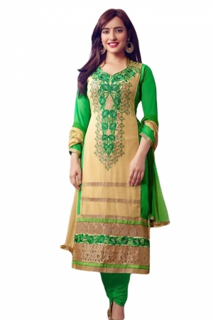 Look N Buy Multicolor Embroidery Work Unstitched Dress Material 172-1375
