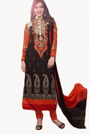 Look N Buy Multicolor Embroidery Work Unstitched Dress Material 172-1380