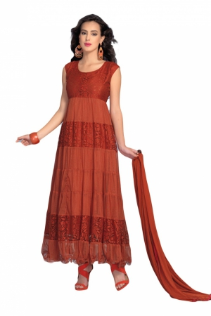 Look N Buy Maroon Plain Suit Unstitched Dress Material 173-1661