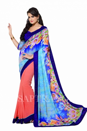 Look N Buy Multicolor Embroidery Work Designer Saree 178-206