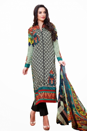 Look N Buy Multicolor Embroidery Work Unstitched Dress Material 189-105