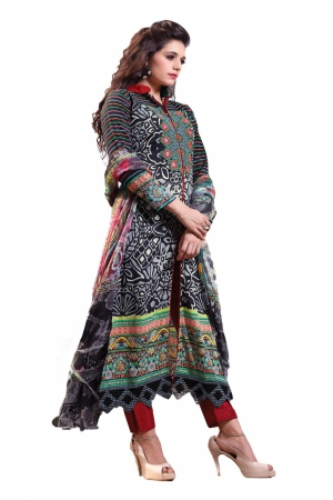 Look N Buy Multicolor Embroidery Work Unstitched Dress Material 189-109