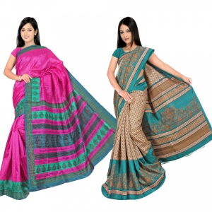 A G Lifestyle Bhagalpuri Silk Special Collection of 2 pices combo AG5100-11