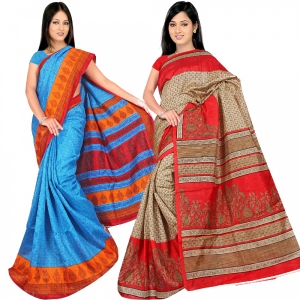 A G Lifestyle Bhagalpuri Silk Special Collection of 2 pices combo AG5103-12