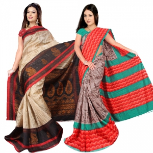 A G Lifestyle Bhagalpuri Silk Special Collection of 2 pices combo AG5104-08