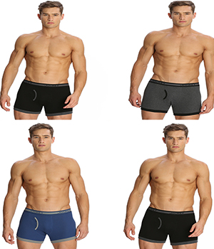 Jockey Elance Mens Trunk 1017 Assorted Color Pack Of 4