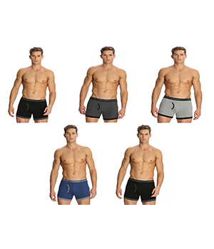 Jockey Elance Mens Trunk 1017 Assorted Color Pack Of 5
