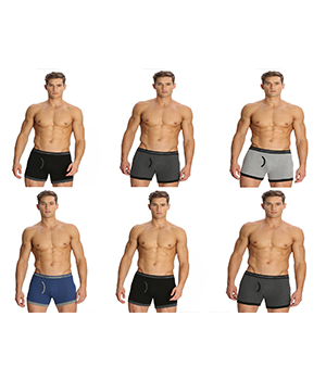 Jockey Elance Mens Trunk 1017 Assorted Color Pack Of 6