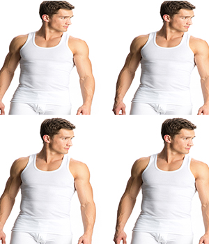 Jockey Elance Modern Undershirt Vest White 8823 Pack of 4