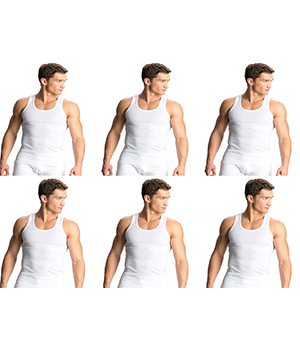 Jockey Elance Modern Undershirt Vest White 8823 Pack of 6