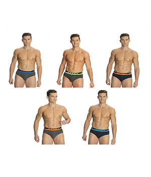 Jockey Mens POP Brief FP01 Assorted Color Pack Of 5