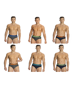 Jockey Mens POP Brief FP01 Assorted Color Pack Of 6