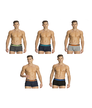 Jockey Mens POP Trunk FP03 Assorted Color Pack Of 5