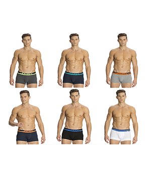 Jockey Mens POP Trunk FP03 Assorted Color Pack Of 6