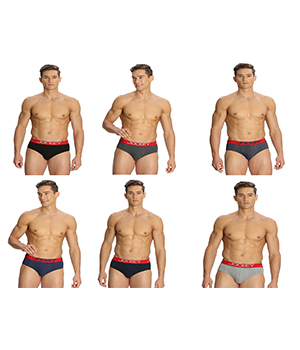Jockey Mens Brief US14 Assorted Color Pack of 6