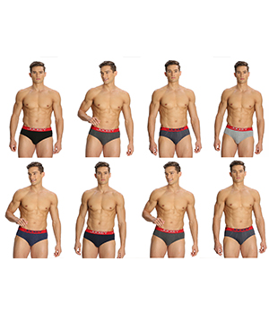 Jockey Mens Brief US14 Assorted Color Pack of 8