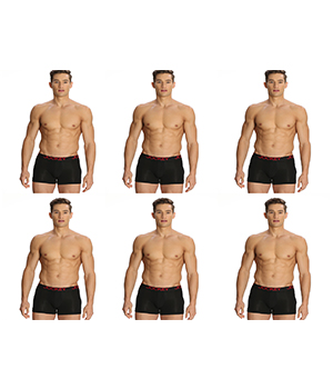 Jockey Zone Stretch Mens Trunk US20 Black Pack Of 6