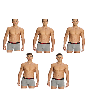 Jockey Zone Stretch Mens Trunk US20 Grey Pack Of 5