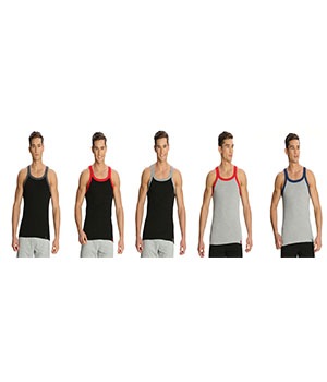 Jockey Zone Mens Vest US27 Assorted Color Pack Of 5