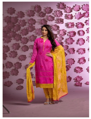 Fabliva Latest Designer Heavy Pink Straight Suit FAS129-1721