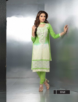 Fabliva Latest Embroidery Designer Parrot Straight Suits FAS139-1763