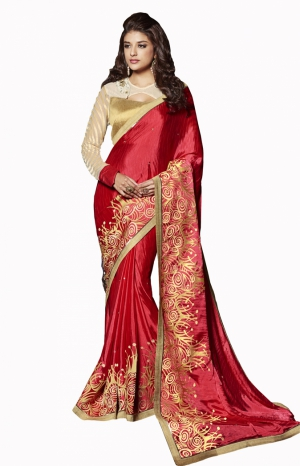 Club Art Decor Designer Maroon Saree On A Pure Natural Fabrics By A.Kumar CLUBARTDECOR33005SR