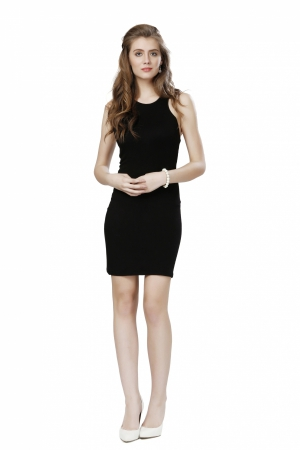 Eavan Black Bodycon Dress EA1029