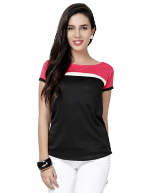 EAVAN Black-Pink Top EA1496