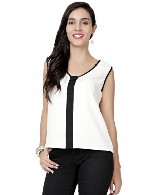 EAVAN White  Regular Fit Top EA1499
