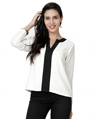 EAVAN White  Regular Fit Top EA1501