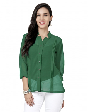 EAVAN Green  Regular Fit Top EA1502
