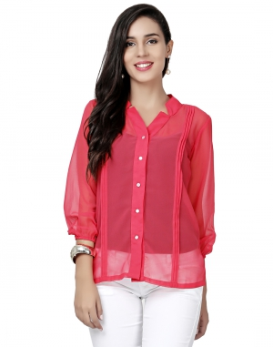 EAVAN Pink  Regular Fit Top EA1503