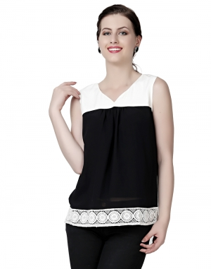 EAVAN Black And White  Regular fit Top EA1512