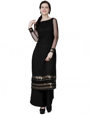EAVAN Black  Slim fit Kurta EA1518