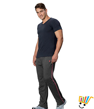 Jockey Solid Sport Mens Track Pants 9501 Charcoal