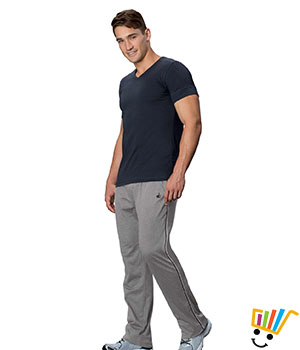 Jockey Solid Sport Mens Track Pants 9501 Grey Black