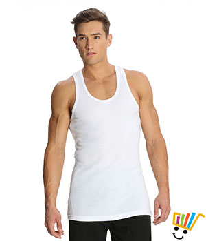 Jockey Sport Mens Vest 9922 White